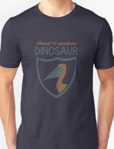 Honest-To-Goodness Dinosaur: Pelican (on dark background) Unisex T-Shirt