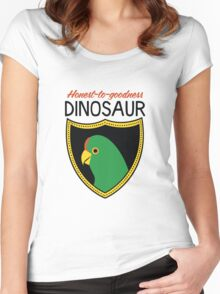 Honest-To-Goodness Dinosaur: Parakeet (on light background) Women's Fitted Scoop T-Shirt