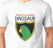 Honest-To-Goodness Dinosaur: Parakeet (on light background) Unisex T-Shirt