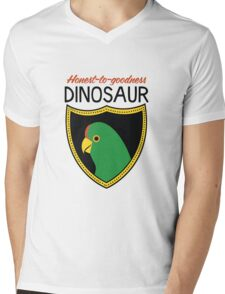 Honest-To-Goodness Dinosaur: Parakeet (on light background) Mens V-Neck T-Shirt