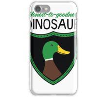 Honest-To-Goodness Dinosaur: Duck (on light background) iPhone Case/Skin