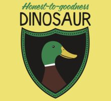Honest-To-Goodness Dinosaur: Duck (on light background) Baby Tee