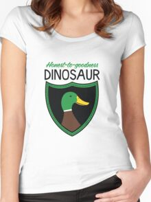 Honest-To-Goodness Dinosaur: Duck (on light background) Women's Fitted Scoop T-Shirt