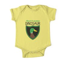Honest-To-Goodness Dinosaur: Duck (on light background) One Piece - Short Sleeve