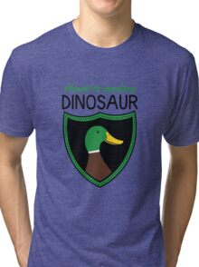 Honest-To-Goodness Dinosaur: Duck (on light background) Tri-blend T-Shirt
