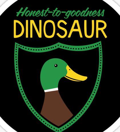 Honest-To-Goodness Dinosaur: Duck (on light background) Sticker