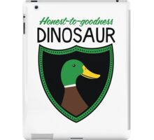 Honest-To-Goodness Dinosaur: Duck (on light background) iPad Case/Skin