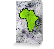 Neon Africa Greeting Card