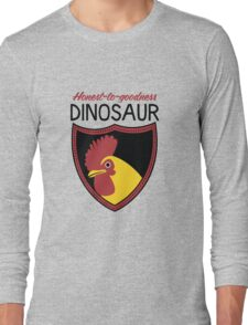 Honest-To-Goodness Dinosaur: Rooster (on light background) Long Sleeve T-Shirt