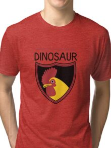 Honest-To-Goodness Dinosaur: Rooster (on light background) Tri-blend T-Shirt