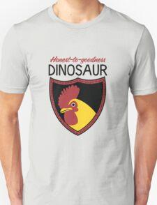 Honest-To-Goodness Dinosaur: Rooster (on light background) Unisex T-Shirt