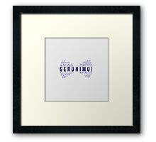 Geronimo! Eleventh Doctor Framed Print
