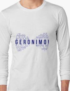 Geronimo! Eleventh Doctor Long Sleeve T-Shirt