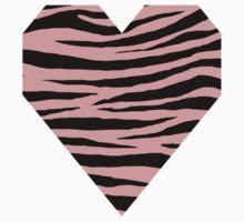 0514 Pastel Pink Tiger Kids Tee