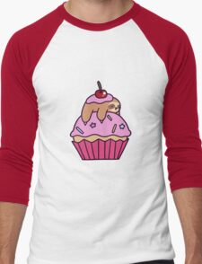 Cupcake Sloth Men's Baseball ¾ T-Shirt