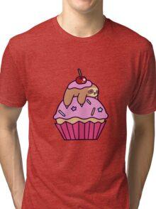 Cupcake Sloth Tri-blend T-Shirt