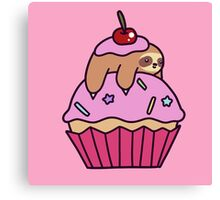 Cupcake Sloth Canvas Print