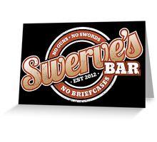 Swerve's Bar - Logo Greeting Card