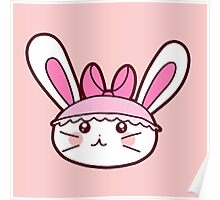 Pink Girly Bunny Poster