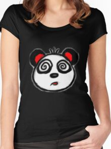 Puzzled Panda Women's Fitted Scoop T-Shirt