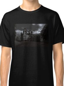 Spooky Night on Dunrobin Castle Black and White (Golspie, Sutherland, Scotland) Classic T-Shirt