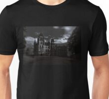 Spooky Night on Dunrobin Castle Black and White (Golspie, Sutherland, Scotland) Unisex T-Shirt