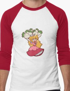 Princess Peach with Turnips Men's Baseball ¾ T-Shirt