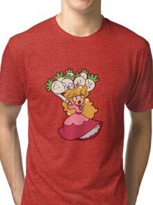 Princess Peach with Turnips Tri-blend T-Shirt