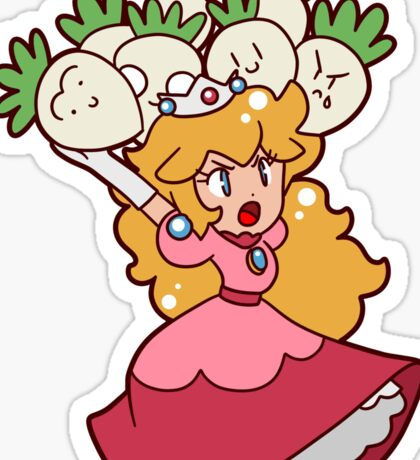 Princess Peach with Turnips Sticker