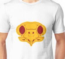 The Owl Skull - burgundy/mustard Unisex T-Shirt