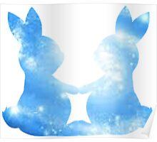 Galaxy Bunnies Poster
