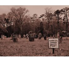 """Bubble Hill Cemetery""... prints and products Photographic Print"