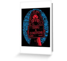 Terms & Conditions Greeting Card