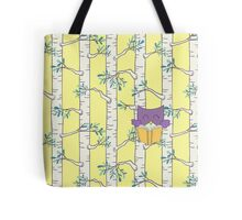 Purple Owl Reading Tote Bag