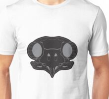 The Owl Skull - black/gray Unisex T-Shirt