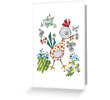 Funky Chicken Greeting Card