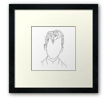 Arctic Monkeys Alex Turner Portrait - Linework Framed Print