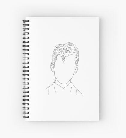 Arctic Monkeys Alex Turner Portrait - Linework Spiral Notebook
