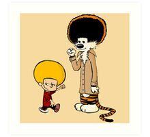 Afro Calvin and Hobbes Art Print