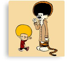 Afro Calvin and Hobbes Canvas Print