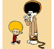 Afro Calvin and Hobbes Photographic Print