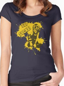 Sup Sucka! Women's Fitted Scoop T-Shirt