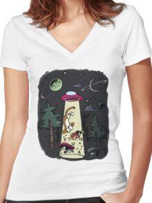 Calvin & Hobbes Women's Fitted V-Neck T-Shirt