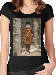 1890s London Yeoman Warder (Beefeater) Women's Fitted Scoop T-Shirt