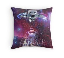 Space astronaut floating endlessly in the galaxy Throw Pillow