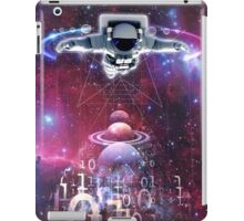 Space astronaut floating endlessly in the galaxy iPad Case/Skin