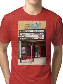 Route 66 - Mar Theater Marquee Tri-blend T-Shirt