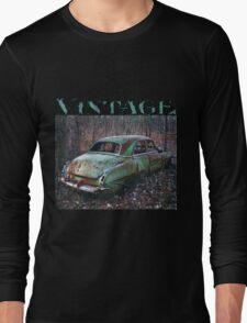 Old Car in the Woods, artist Lynn Garwood Long Sleeve T-Shirt