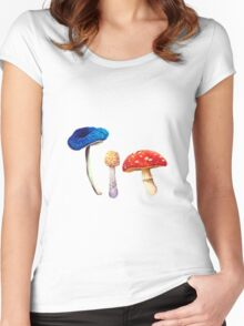 Mush and Toadstools | Light Women's Fitted Scoop T-Shirt