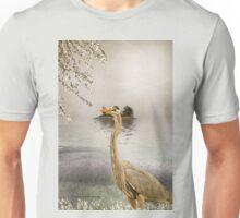 Great Blue Heron at Dusk Unisex T-Shirt